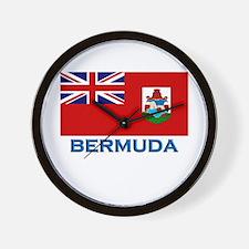 Bermuda Flag Stuff Wall Clock