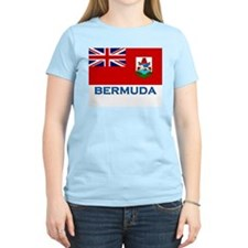 Bermuda Flag Stuff Women's Pink T-Shirt