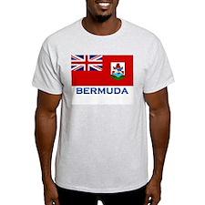 Bermuda Flag Stuff Ash Grey T-Shirt