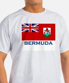 Bermuda Flag Stuff Ash Grey T-Shirt