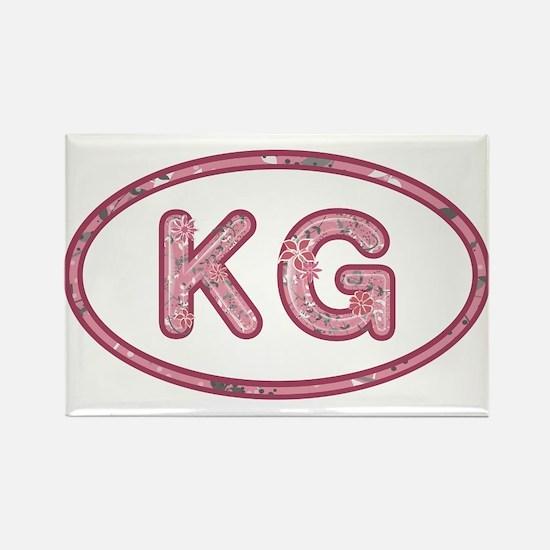 KG Pink Rectangle Magnet