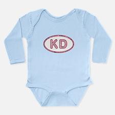 KD Pink Long Sleeve Infant Bodysuit