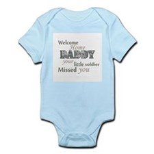 Welcome Home Daddy (Soldier) Infant Bodysuit