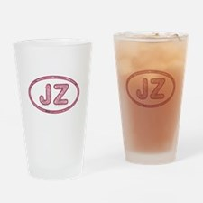 JZ Pink Drinking Glass