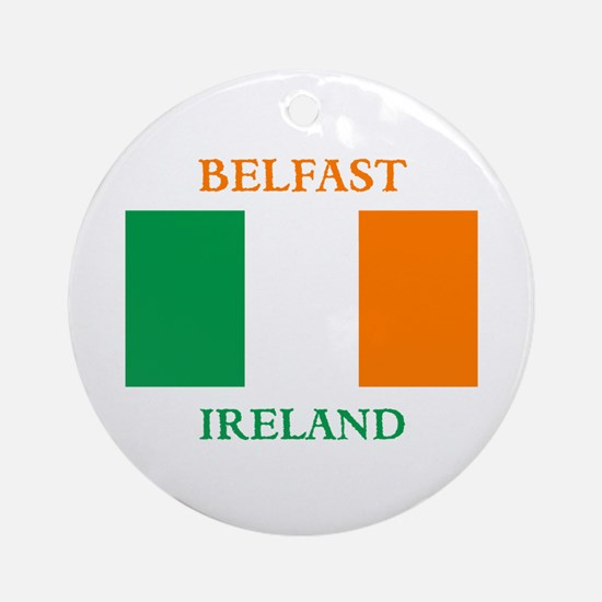 Belfast Ireland Ornament (Round)