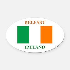 Belfast Ireland Oval Car Magnet
