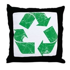 Vintage Recycle Throw Pillow