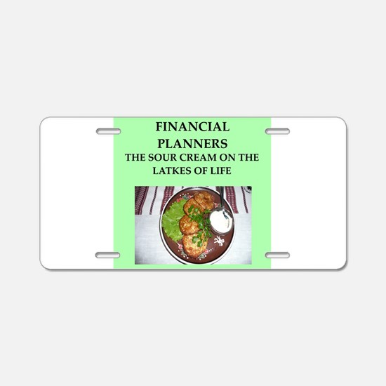 financial planner Aluminum License Plate