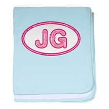 JG Pink baby blanket
