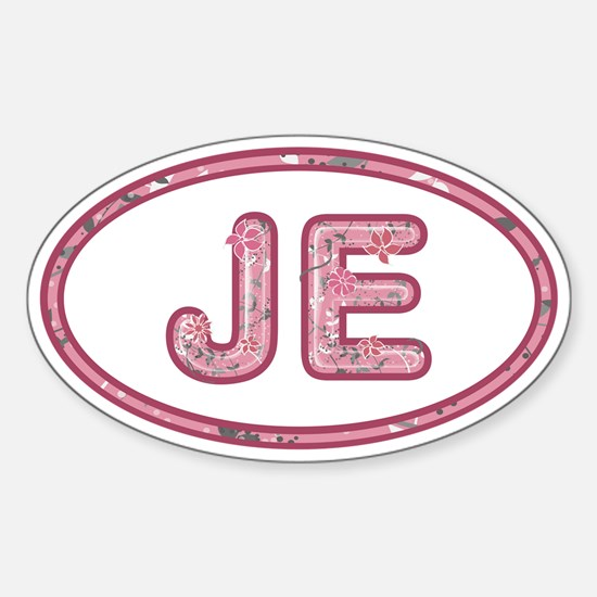 JE Pink Sticker (Oval)