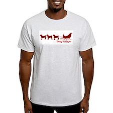"""Shar Pei """"Sleigh"""" Ash Grey T-Shirt"""