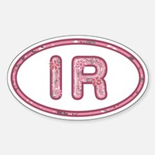 IR Pink Sticker (Oval)