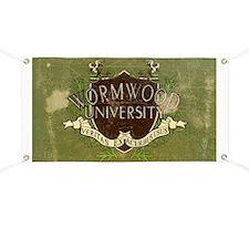 Worn Wormwood University Banner