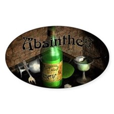 Absinthe Still Life On Tray Decal