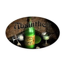 Absinthe Still Life On Tray Oval Car Magnet