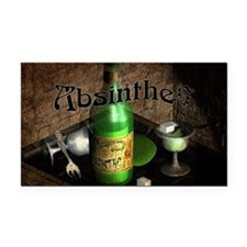 Absinthe Still Life On Tray Rectangle Car Magnet