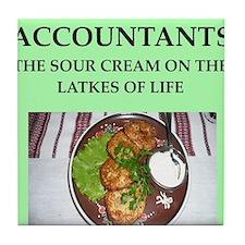 accountant Tile Coaster