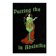 Putting The Sin In Absinthe Postcards (Package of