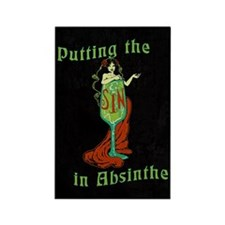 Putting The Sin In Absinthe Rectangle Magnet