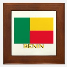 Benin Flag Gear Framed Tile
