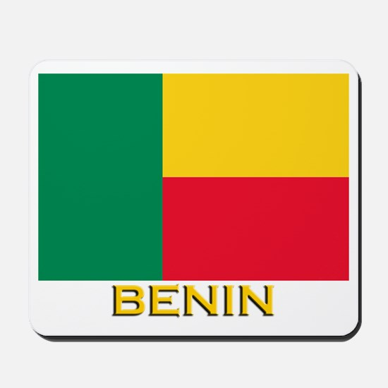 Benin Flag Gear Mousepad