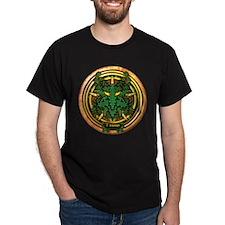 Holly Celtic Greenman Pentacle T-Shirt