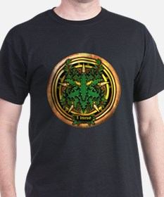 Holly Celtic Greenman Pentacle T-Shirt