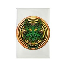 Holly Celtic Greenman Pentacle Rectangle Magnet