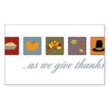As We Give Thanks Decal