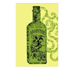 Absinthe Bottle With Swirls Postcards (Package of