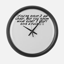 Funny What fuck Large Wall Clock
