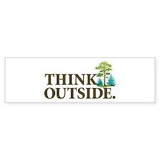 Think Outside Bumper Sticker