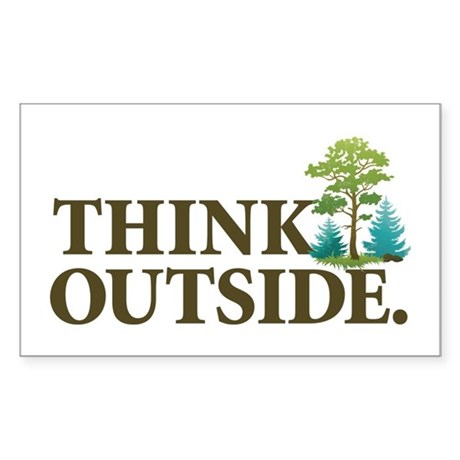 Think Outside Sticker (Rectangle)