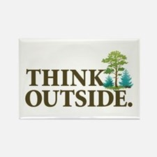 Think Outside Rectangle Magnet (10 pack)
