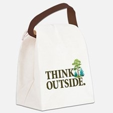 Think Outside Canvas Lunch Bag