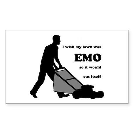 EMO Lawn Rectangle Sticker