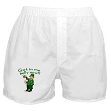 Leprechaun and Beer Humor Boxer Shorts