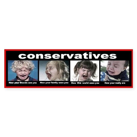 Conservatives Sticker (Bumper)