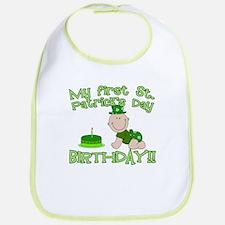 First St Patrick's Day Birthday Bib
