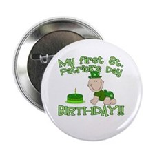 "First St Patrick's Day Birthday 2.25"" Button (10 p"