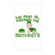 First St Patrick's Day Birthday Decal