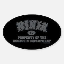 Ninja Department Oval Decal