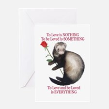 To Love Ferret Greeting Cards