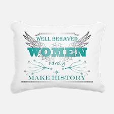 WellBehavedWomen_TURQ Rectangular Canvas Pillow