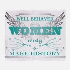 WellBehavedWomen_TURQ Throw Blanket