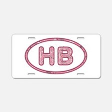 HB Pink Aluminum License Plate