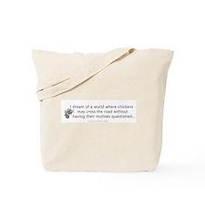 Funny chicken bumper sticker Tote Bag