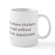 Funny chicken bumper sticker Small Mug