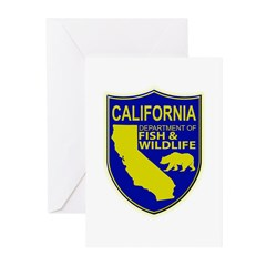 California Game Warden Greeting Cards (Pk of 20)