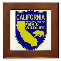 California Game Warden Framed Tile